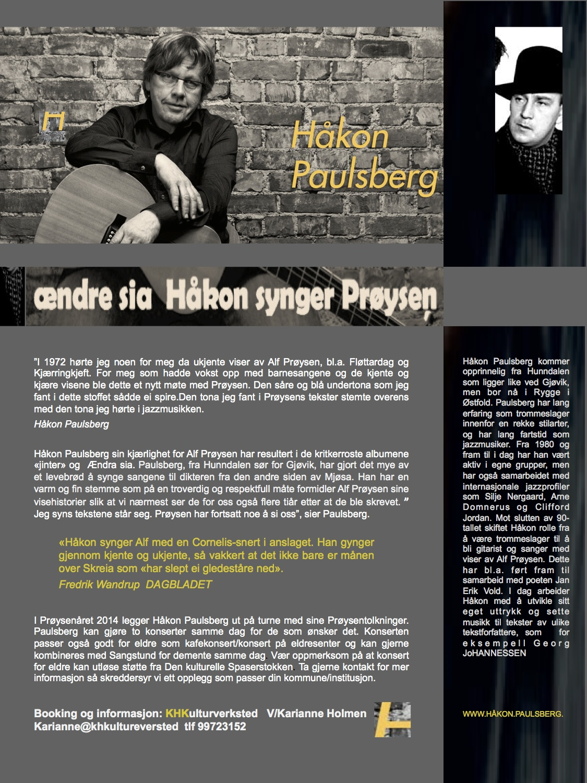 Ændre sia. Håkon synger Prøysen. kopi-kopi